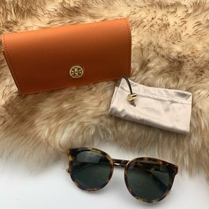 Tory Burch Panama Havana Polarized Tortoise New